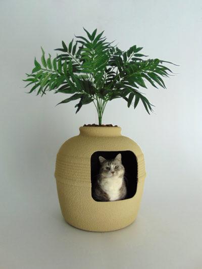 Desert Tan Hidden Litter Box with Palm