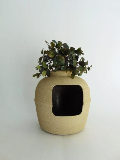 Desert Tan Hidden Litter Box with Ivy
